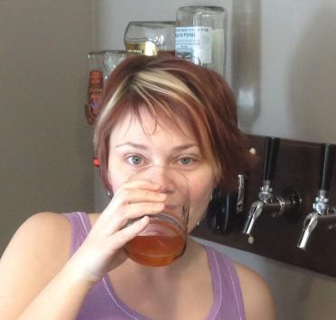 Testing the homemade gluten free beer